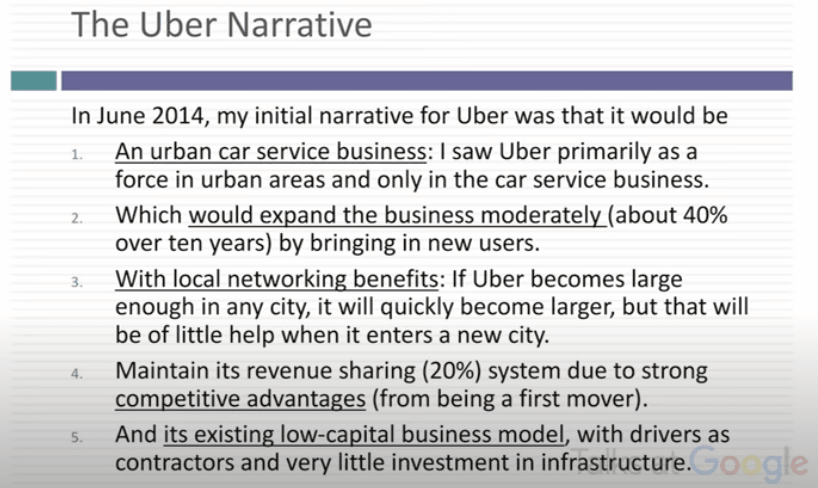 Uber Narrative